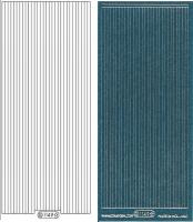 Glitter-Sticker - Rand - türkis - 1149