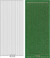 Glitter-Sticker - Rand - grün - 1149