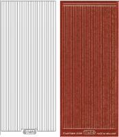 Glitter-Sticker - Rand - rot - 1149