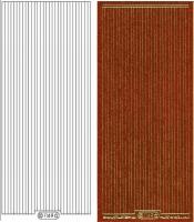 Glitter-Sticker - Rand - orange - 1149