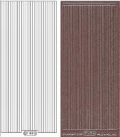 Glitter-Sticker - Rand - rosa - 1149