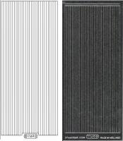 Glitter-Sticker - Rand - schwarz - 1149