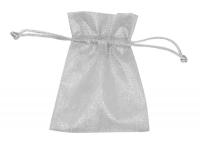 1x Lurex-Säckchen 11,5 x 9 cm - silber
