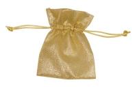 6x Lurex-Säckchen 11,5 x 9 cm - gold