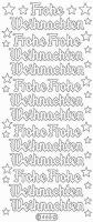 Sticker - Frohe Weihnachten - gold - 465