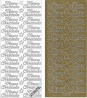 Sticker - Merry Christmas - gold - 351