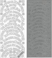Sticker - Rundschriften groß - silber - 426