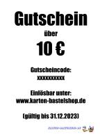 Geschenk-Gutschein - Wert: 10 ¤