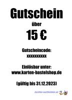 Geschenk-Gutschein - Wert: 15 ¤