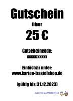 Geschenk-Gutschein - Wert: 25 ¤