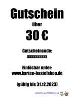 Geschenk-Gutschein - Wert: 30 ¤