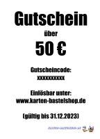 Geschenk-Gutschein - Wert: 50 ¤