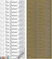 Sticker - Zur Geburt - gold - 435