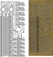 Kombi-Sticker - Frohe Festtage - gold - 2836