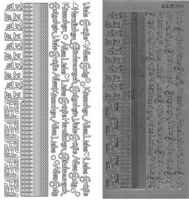 Kombi-Sticker - Küsschen - silber - 2616