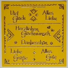 Kombi-Sticker - Viel Glück - silber - 2618