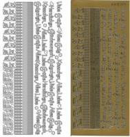 Kombi-Sticker - Küsschen - gold - 2616