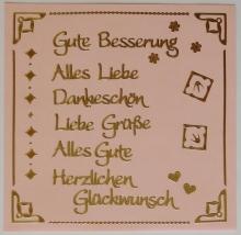Kombi-Sticker - Gute Besserung - gold - 2620