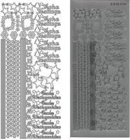 Kombi-Sticker - Frohe Festtage - silber - 2836