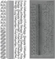 Kombi-Sticker - Frohe Weihnachten - silber - 2973