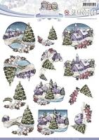 Stanzbogen - Yvonne Creations - Colourful Christmas (044)