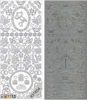 Sticker - Baby 3 - silber - 885