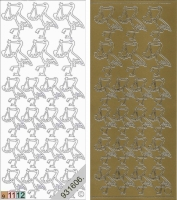 Sticker - Storch - gold - 821