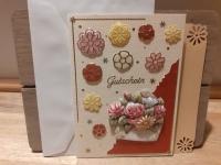 3D-Karte zum Geschenk-Gutschein - Gutschein mit Blumen - Nr.17