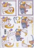 3D-Bogen Baby in Wiege von LeSuh (416949)