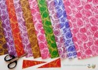Mini-Bastelpapier-Set Rosen von LeSuh