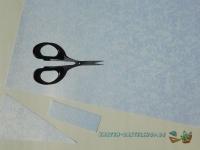 Bastelpapier-Set Kleine Rosen weiß von LeSuh