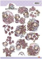 3D-Bogen - Mädchen mit Blume - Yvonne Creations