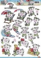 3D-Bogen - Kuh im Urlaub - Yvonne Creations