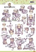 3D-Bogen - Mädchen im Frühjahr - Yvonne Creations