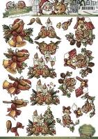 3D-Bogen - Weihnachtsvögel - Yvonne Creations