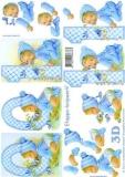 3D-Bogen Baby blau 0-1 Jahre von LeSuh (4169619)