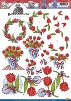 3D-Bogen - Tulpen / Holland - Yvonne Creations