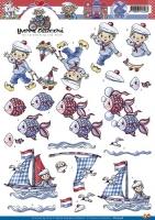 3D-Bogen - Segler und Fisch - Yvonne Creations