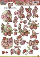 3D-Bogen - Erdbeer-Mädchen - Yvonne Creations
