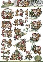 3D-Bogen - Santa und Rudolf - Yvonne Creations