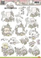 3D-Bogen - Jahrestag Tauben - Yvonne Creations