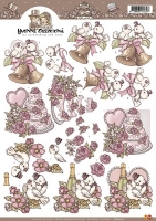 3D-Bogen - Tauben / Hochzeit - Yvonne Creations