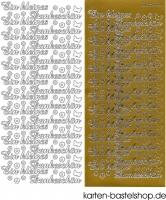 Sticker - Ein kleines Dankeschön - gold - 3824
