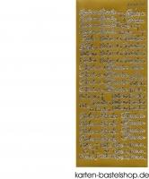 Sticker - Ruhe in Frieden - gold - 3513