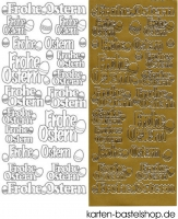 Sticker - Frohe Ostern - gold - 1775