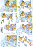 3D-Bogen Baby blau 2-3 Jahre von LeSuh (4169620)