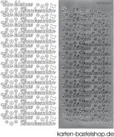 Sticker - Ein kleines Dankeschön - silber - 3824