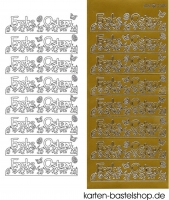 Sticker - Frohe Ostern - gold - 3369