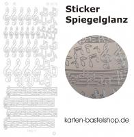 Platin-Sticker (Spiegelglanz) - Noten / Musik - silber - 3076
