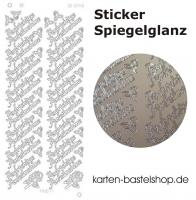 Platin-Sticker (Spiegelglanz) - Aufrichtige Anteilnahme - silber - 3040
